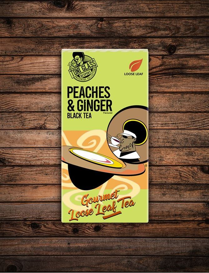 Picture of 80g Loose Leaf Tea - Peaches & Ginger